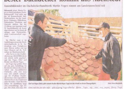 Bester Dachdecker kommt aus Adenstedt