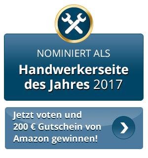 Nominiert zur Handwerkerseite des Jahres 2017