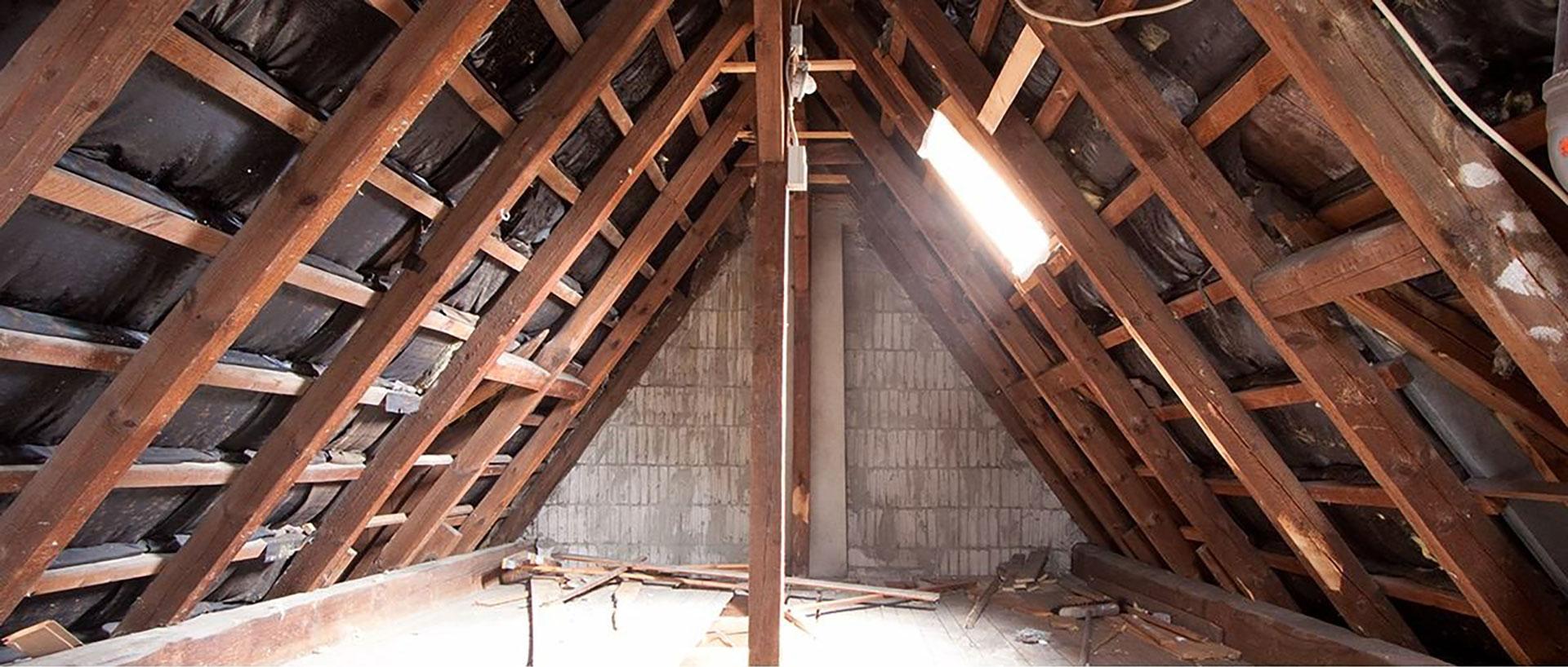 Dachbodenausbau vorher